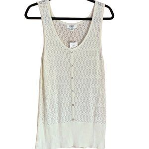 Cato Sweater Vest Ivory, Open Knit, 14/16, NWT